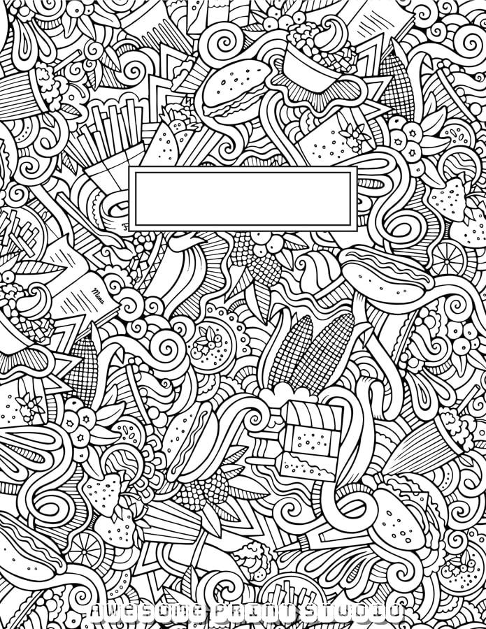 Раскраска антистресс для тетрадки