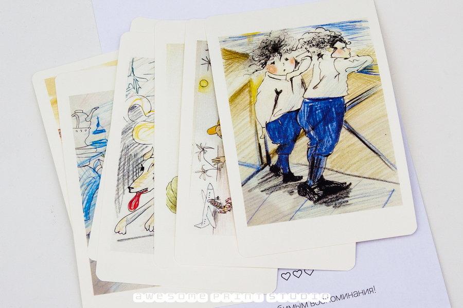 Напечатать открытки со своим рисунком