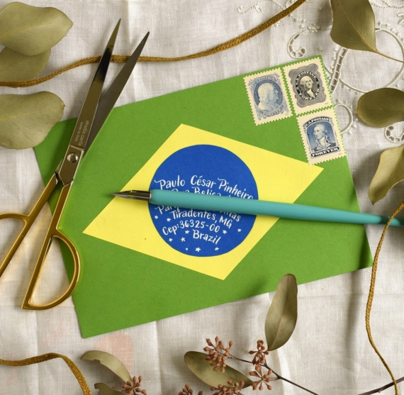 Почтовый конверт по мотивам бразильского флага