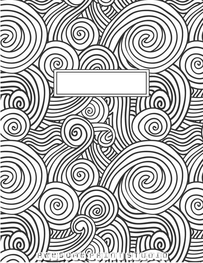 обложка №3 для тетради распечатать