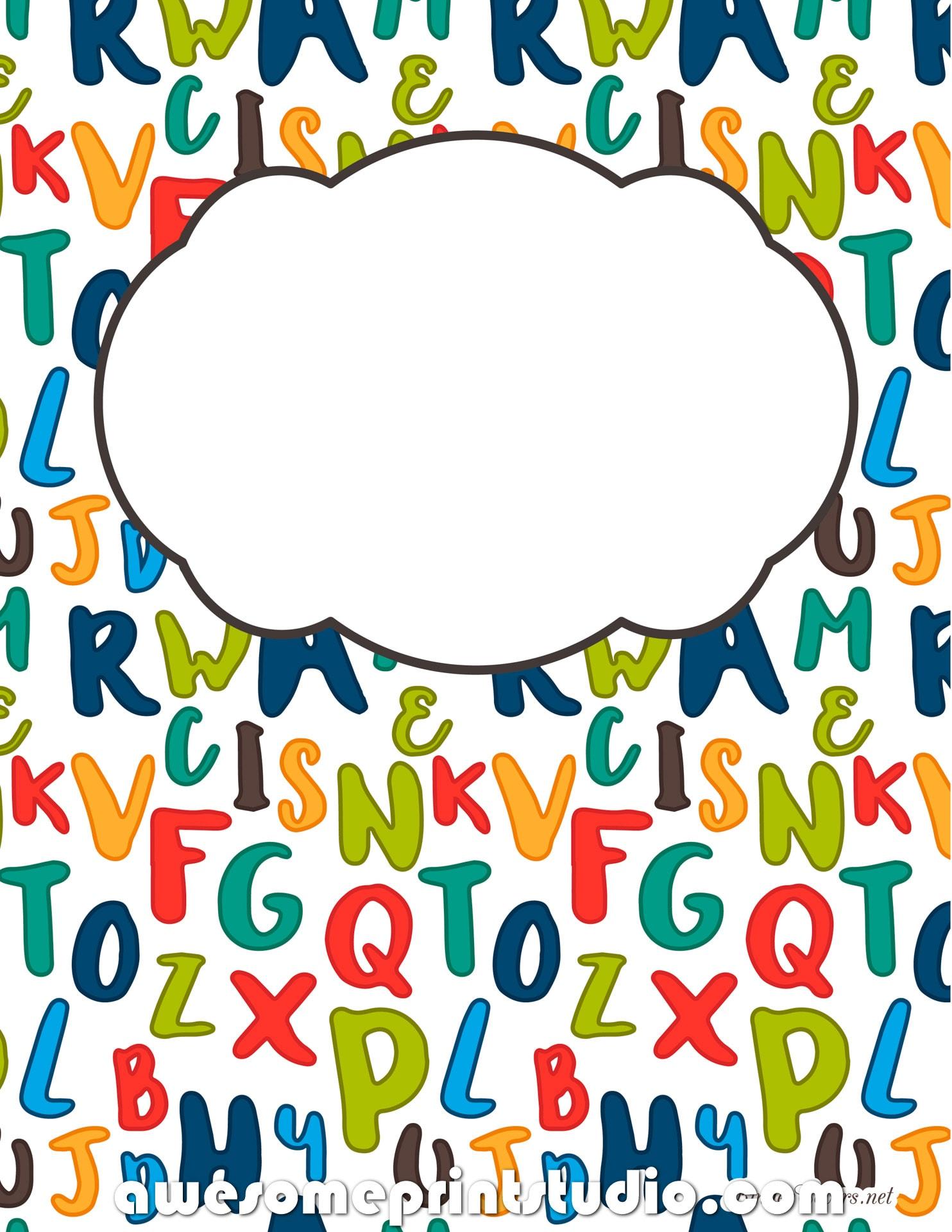 распечатать красивые обложки для тетрадей с английским алфавитом 75779985