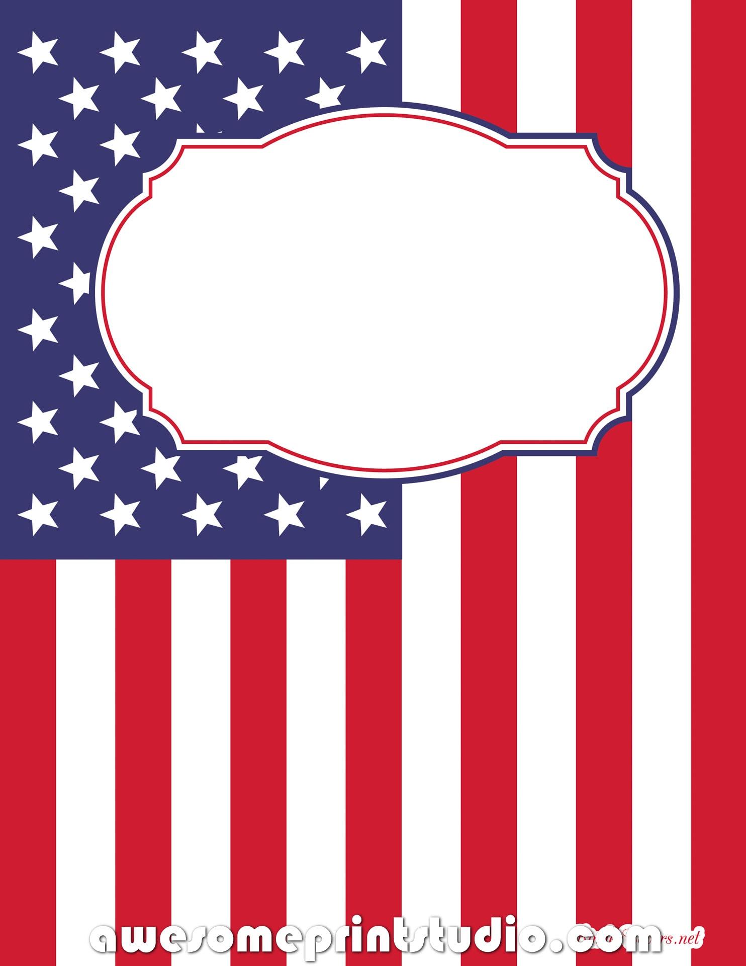 распечатать красивые обложки для тетрадей с американским флагом a4f4b28f