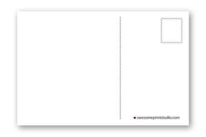минималистичный оборот почтовой открытки в хорошем качестве