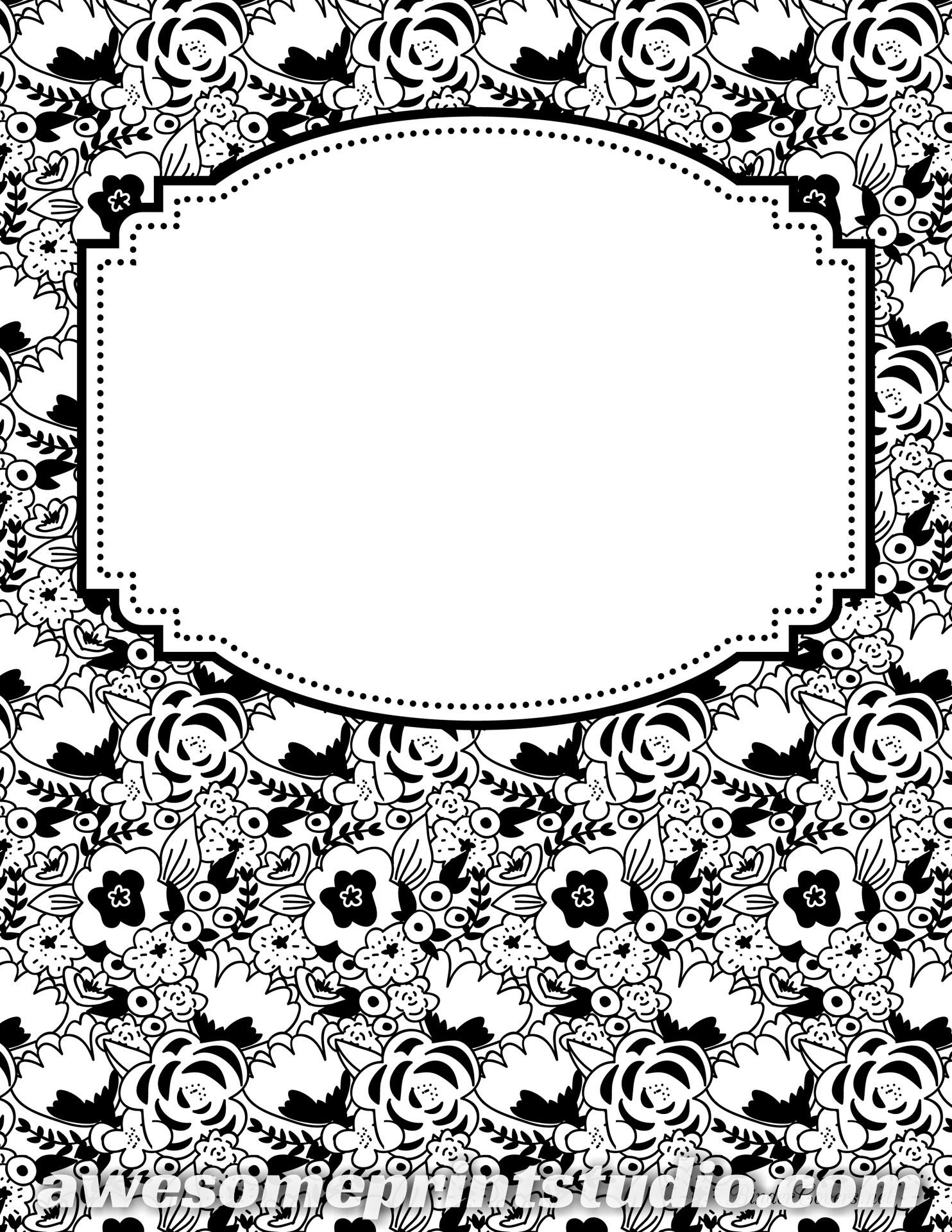 Картинки для распечатки чб для тетрадей